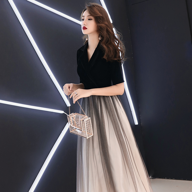 Banquet Evening Dress 2019 New Style Nobility Elegant Long Dress Slimming Annual General Meeting Host Dress Women's