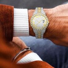 Модные мужские кварцевые часы с micropave алмаза класса «Люкс»