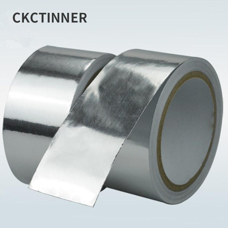 4mm-12mm 0.06 Thick Heat-proof Tape Adhesive, Aluminium Foil Paper, Heat-proof Tape Heat-proof Maintenance Tools 20M