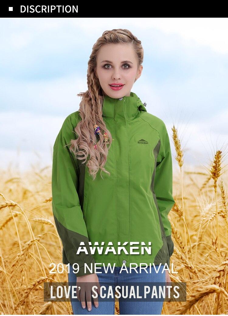 Royalway 2019 nova luz blusão feminino à