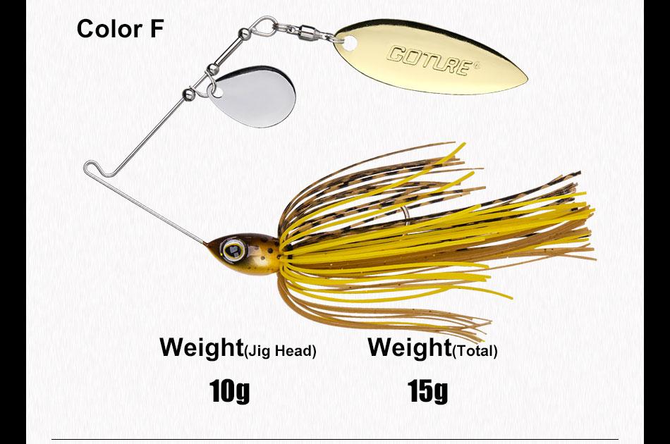spinnerbait bait 10g 15g artificial bait jigging lure (12)