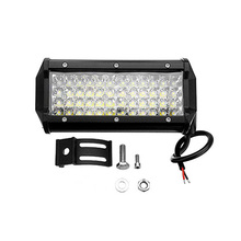 LED Waterproof Work Light Bar 7 Inch 144W Quad-Row for Trucks SUVs Combo Driving Lamp Off-Road Tractor (Black