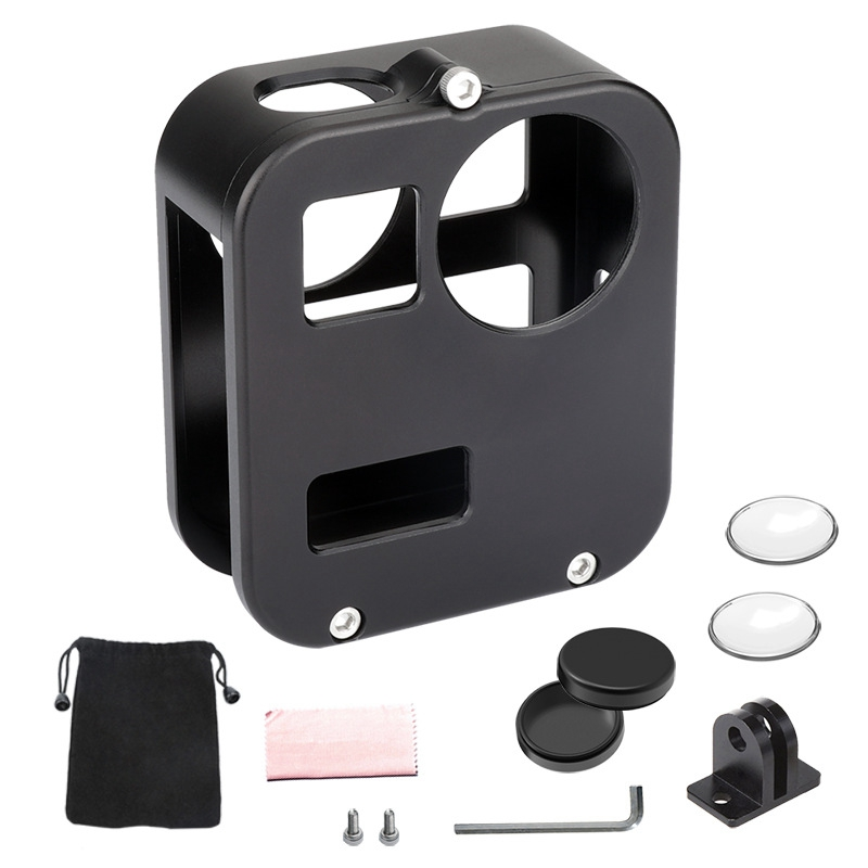Resistant Protective Cage Housing Shell Metal Case Frame for GoPro Max Waterproof Action Camera Accessories