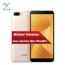 Smartphone 4gb ram 64gb rom mt6750t octa núcleo otg 4130mah telefones celulares android versão global asus zenfone max plus m1 zb570tl