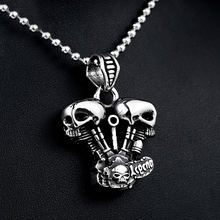 Ожерелье мужское из титановой стали Готическая подвеска в стиле