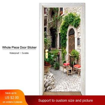 Adhesivo hermoso cartel de jardín puerta pegatinas Decoración Para sala de estar dormitorio lienzo papel pintado decoración del hogar impermeable etiqueta Mural