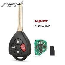 Jingyuqin GQ4-29T 314MHz ID67 clé pour Toyota USA Corolla Matrix 2008-2010 Pontiac Vibe télécommande voiture clé Fob 4 boutons