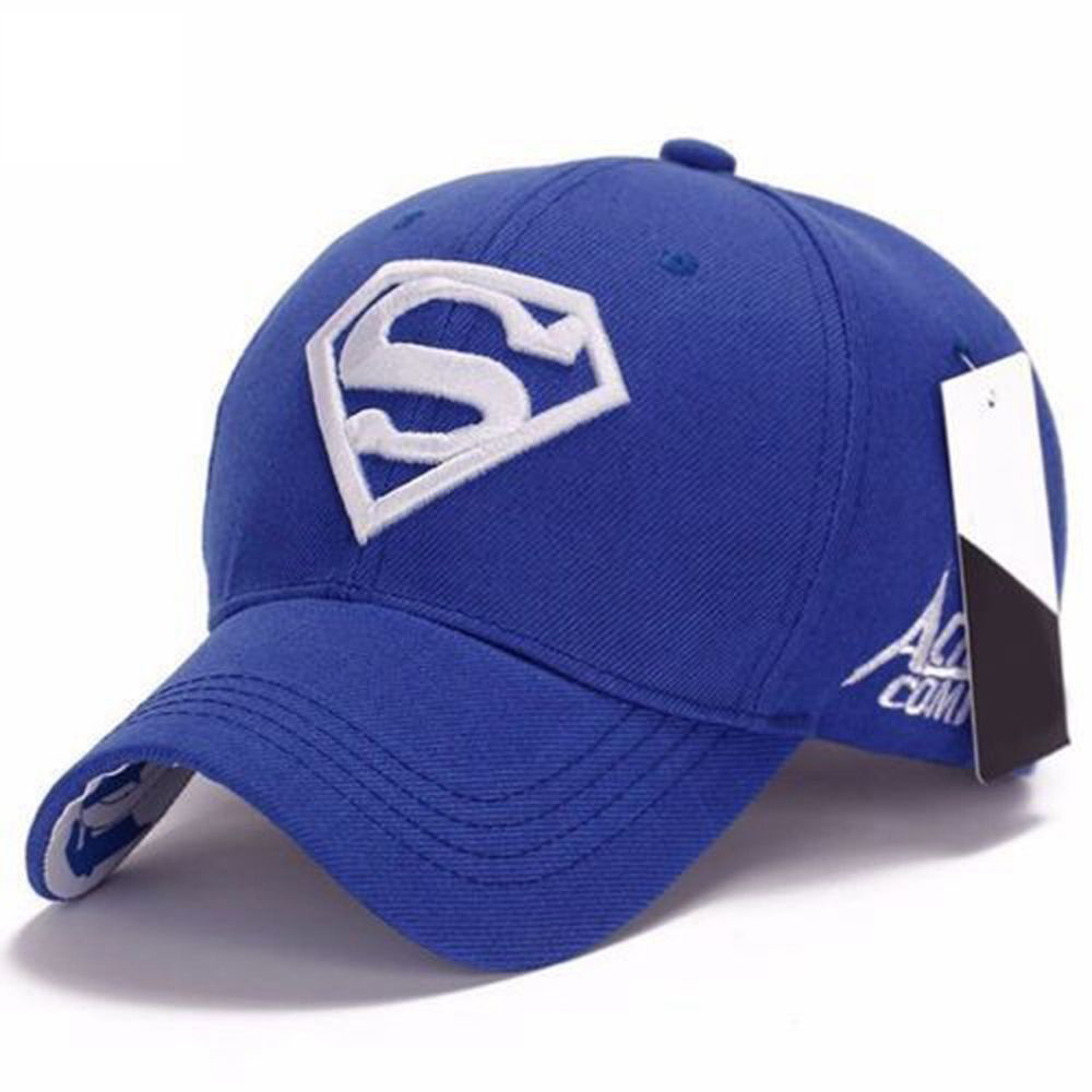 Men Women Unisex Embroidery Cap Leisure Sports Superman Cap Adjustable Fit Visors Hip-hop Stretch Hat