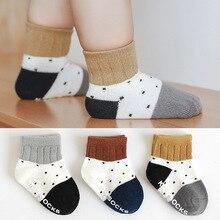 Socks Non-Slip Stuff Baby Knitted Toddler Girls Boys Winter New Autumn Dot Stripe 0-3-Year