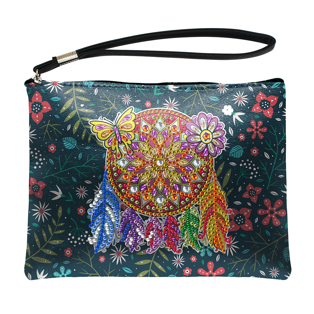 DIY Dream Catcher Special Shaped Diamond Painting Wristlet Wallet Women Clutch Storage Bag Christmas Gift for Girlfriend image