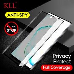 3D изогнутое анти-шпионское закаленное стекло для samsung Note 10 9 8 Защита экрана конфиденциальности Анти-пип пленка для Galaxy S10 S9 S8 Plus S10e