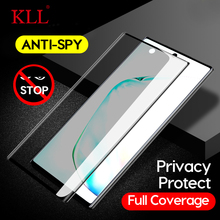 3D Curved Anti-spy Tempered Glass for Samsung Note 10 9 8 Privacy Screen Protector Anti-Peep Film for Galaxy S10 S9 S8 Plus S10e hotsale 9h 2 5 d anti spy privacy premium tempered glass screen protector for samsung galaxy note 3