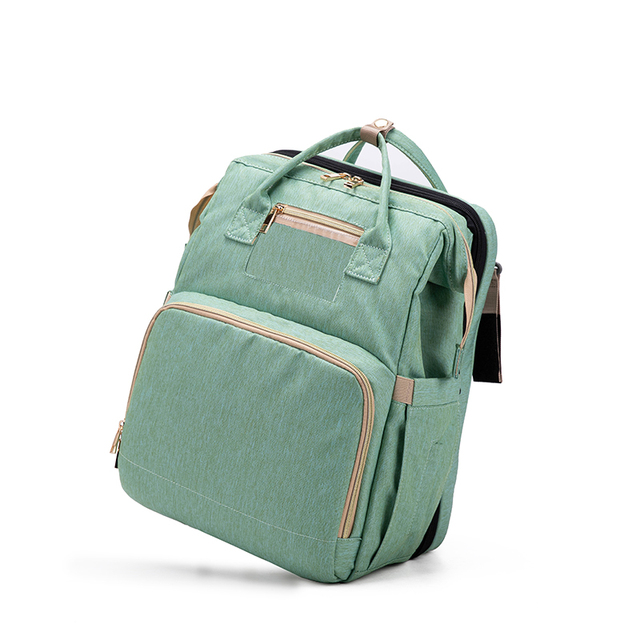 Yimixz Multifunctional Large Capacity Diaper Bag Backpack Foldable Travel Bag for Dad Mom Can Turn into Small Bed