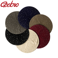 Beret-Hat Rhinestone Winter Spring Knitted Geebro Women And Casual Autumn Bonnet Solid