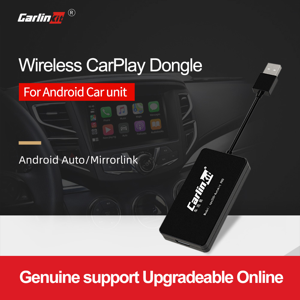 Carlinkit inalámbrico inteligente enlace Apple Carplay Dongle para Android reproductor de navegador Mini USB Carplay Stick con Android Auto negro