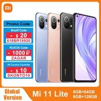 Global Version Xiaomi Mi 11 Lite NFC 64GB/128GB Smartphone Snapdragon 732G Octa Core 64MP Rear Camera 4520mAh Mi 11 Lite Phone 1