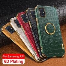 Чехол из крокодиловой кожи для Samsung Galaxy A51 A41 A71 A11 M11, чехол-держатель для Samsung A12 A02 A 51 41 71 11 12 02, чехол для телефона