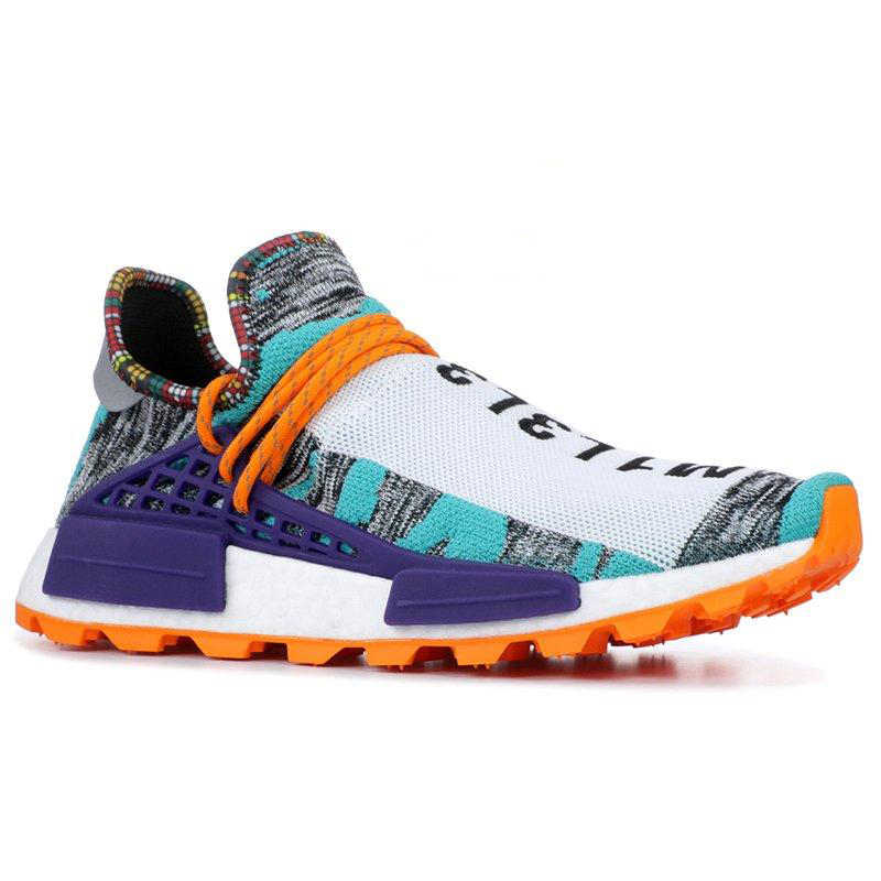 Human Race Casual Shoes Mens Women Pharrell Williams Yellow Noble Ink core Black Red White Mens Womens Sports Sneakers 36-45