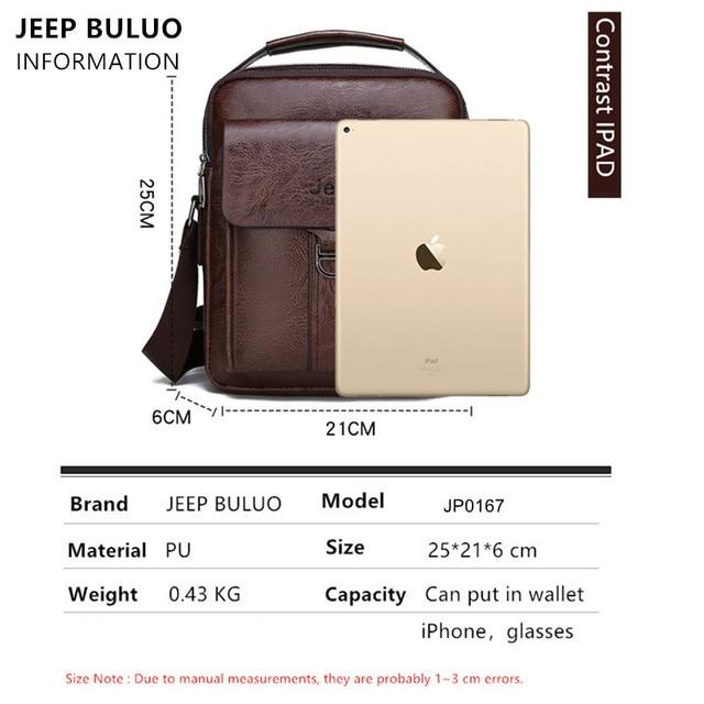 Мужская деловая сумка JEEP из искусственной кожи с ремнём на плечо и ручкой для переноски 2