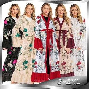 Open Abaya Dubai Kimono Turkish Hijab Muslim Dress Islamic Clothing Abayas For Women Caftan Marocain Moroccan Kaftan Djelaba