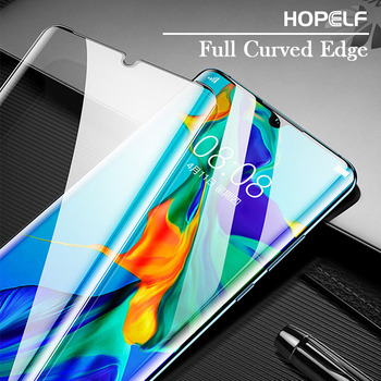 Tempered Glass For Huawei P30 Pro Screen Protector Full Curved Edge Protective Glass For Huawei Nova 4e P30 Lite Mate 20 Pro