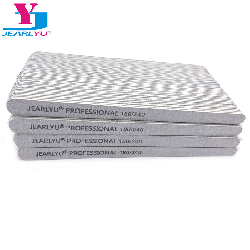 500pcs/lot Sandpaper Nail File 180/240 Double-sided Buffer Professional Manicure Pedicure Tools Vijlen Nails File Lima Wholesale