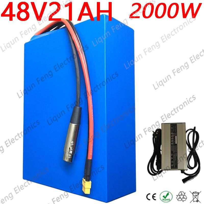 Batterie au Lithium pour vélo électrique, 48V, 20ah, 18ah, 13/10ah, pour moteur 1000/750/500W, Ebike