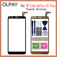 "OLPAY 5.34 ""Touch Screen Für TP Link Neffos C5 Plus Touchscreen Digitizer Panel Front Glas Objektiv Sensor werkzeuge Kleber + Tücher"