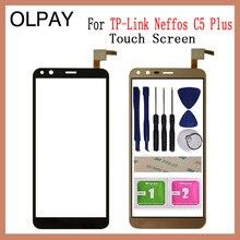 """OLPAY 5.34 """"dokunmatik ekran tp link Neffos C5 artı dokunmatik ekran digitizer paneli ön cam Lens sensörü araçları yapıştırıcı + mendil"""