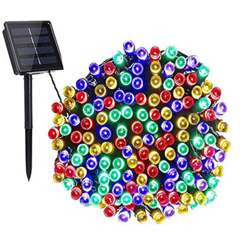 300 LED Solar String Lights 8 Mode Fairy Lights Outdoor Waterproof Christmas Garland Solar Power Lamp Garden Decoration