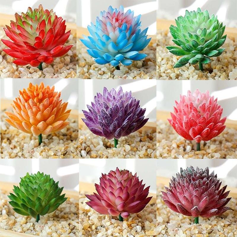 Artificial Succulents Plants Grass Desert Artificial Plant Landscape Fake Flower Ornament Home Office Party Garden Decoration