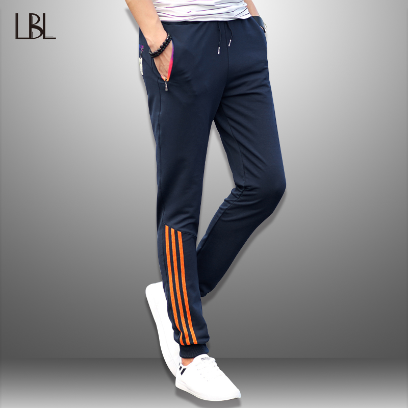 LBL Striped Pants Men Jogger Casual Mens Sweatpants Sportswear Long Trousers New Straight Pant Man Fitness Clothing Dropshipping