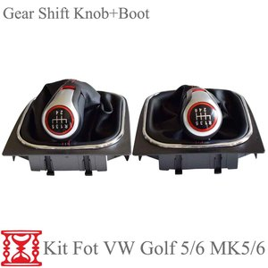 Image 4 - For VW Volkswagen Golf 5/6 MK5/6 Scirocco(2009) octavia Car Gear Shift Knob Lever Pen 5 6 Speed handle ball boot cover Gaitor