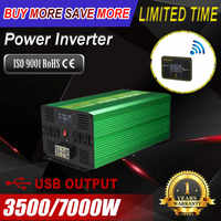 Wirelss pure sine wave power inverter UPS 3500/7000W Solar Inverter 12V to 110V converter power with Remote control LED for Car