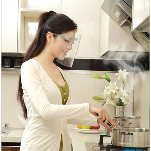 1 PC Home Cooking Face Screen Double-Sided Anti-Fog Prevent Liquid Oil-Splashing Protective Face Shield With Glasses
