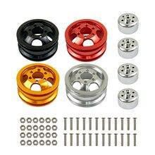Обновление металлический обод колеса комплект подшипник ступицы колеса для WPL B1 B-1 B14 B-14 B16 B-16 B24 B-24 C14 C-14 B36 с винтами Радиоуправляемые модели ...