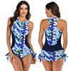 Zippered Front Sports One Piece Swimsuit 7
