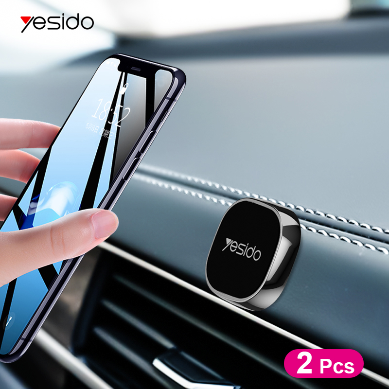 Yesido C81 Mini Magnetic Car Phone Holder For IPhone X Samsung Xiaomi Metal Round Magnet Stand GPS Car Mount Dashboard For Wall