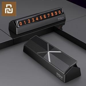 Image 1 - شاومي Titx X نوع الوجه سيارة درجة الحرارة وقوف السيارات رقم الهاتف بطاقة لوحة سيارة صغيرة الديكور ل شاومي Mi المنزل