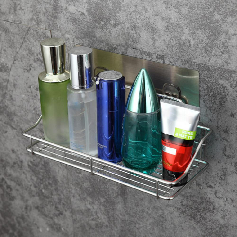 Bathroom Shelf Corner Storage Rack Organizer Shower Wall Shelf With Suction Cup 304 Stainless Steel Kitchen Bathroom Shelves