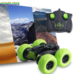 2.4G RC Car Roll elektryczna symulacja zdalnego sterowania transformacja pojazdu zabawki dla dzieci szybki pilot samochód kaskaderski