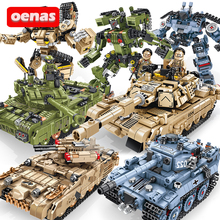 Совместимый с LegoED военный Тип 99 Тигр M1A2 главный Танк деформация робот строительный блок кирпичи Мальчики Дети комплект игрушки Детский подарок