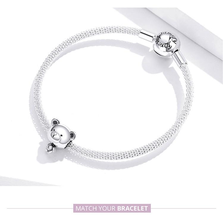 charm bracelet Bear Toy Beads for Women Jewelry Making 925 Sterling Silver Fashion DIY Jewelry Charm for Original Bracelet