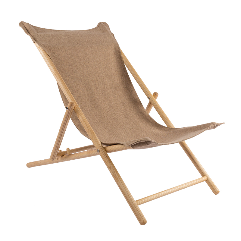 Nordic Recliner Folding Lunch Break Home Solid Wood Lazy Nap Chair Outdoor Balcony Beach Chair Leisure Chair