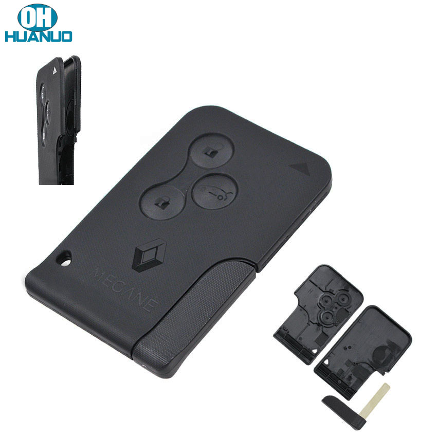 Чехол для смарт-карты черного цвета с 3 кнопками, брелок для Меган с маленьким лезвием для ключей с пряжкой, съемный (улучшенная версия)