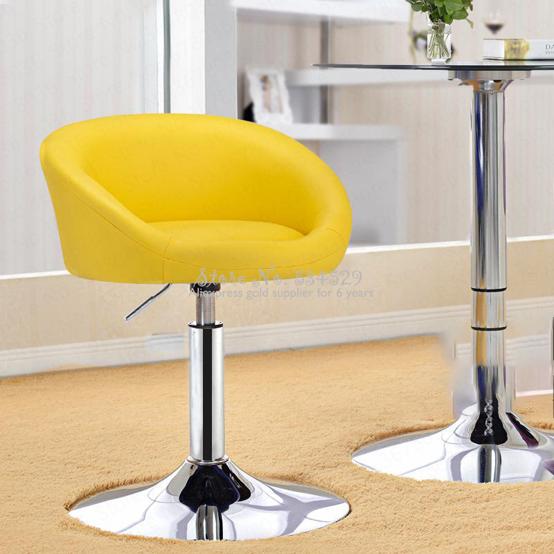 21%Short Bar Counter Rotating Chair European Style Simple Bar Stool Bar Chair Lift Parlor Small Chair