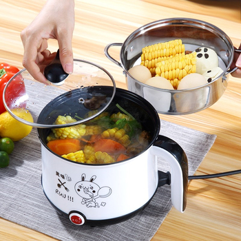 цена на Electric Mini Rice Cooker 1.8L Non-stick Cooking Machine Single/Double Layer Portable Multifunction Electric Rice Cooker