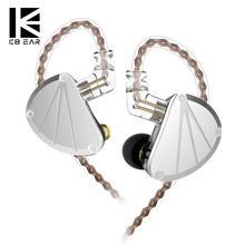 KBEAR KB10 5BA 5 Balanced Armature Metal Hifi Music Monitor DJ Studio In Ear Earphones Running Sport Headset Earbuds 2Pin 0.75mm helloear arc balance armature earphones in ear dj hifi earplhone monitor iem with 2pin 0 78mm detacheable cable k3003 w4r se846
