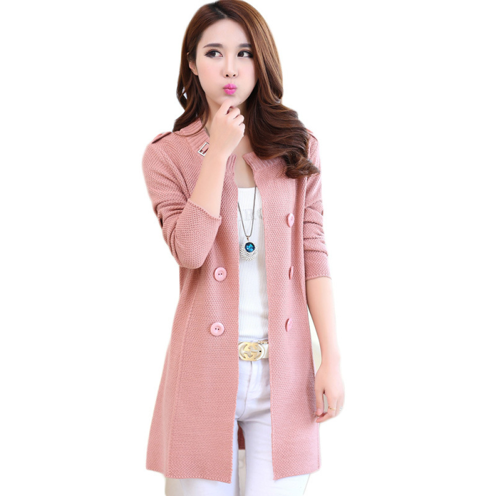 Women Sweater Cardigans Spring Autumn Long Sleeve Knitwear Cardigan Female Knitted Coat