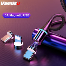 Vanniso Magnetic Micro USB Cable For iPhone Samsung Fast Charging Data Wire Cord Magnet Charger Type C 2m Mobile Phone